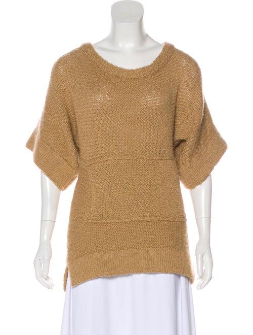b5bac099aa8e49 Chloé Merino Wool-Blend Short Sleeve Sweater - Clothing - CHL97889 ...