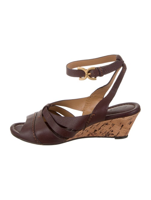 65d0faf15bf Chloé Leather Wedge Sandals - Shoes - CHL99114