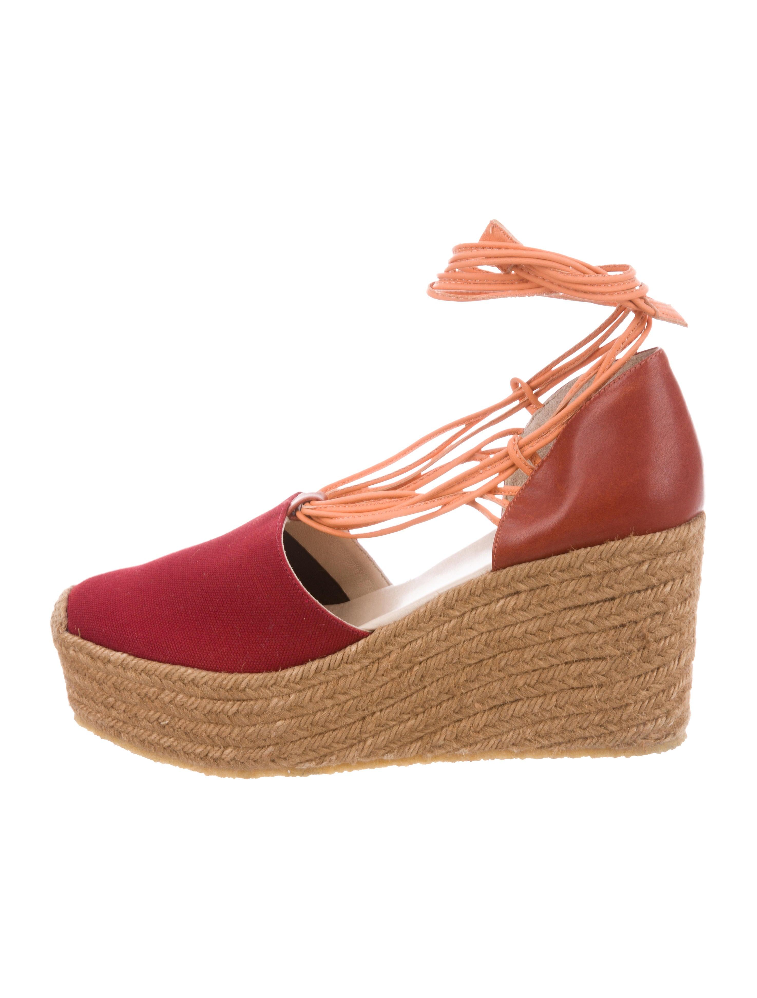 e708260f817 Chloé Canvas Platform Espadrille Wedges - Shoes - CHL99193