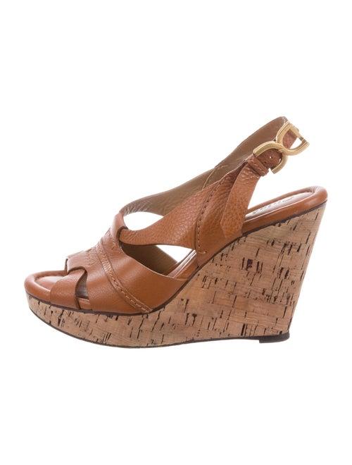 b2e8d267a36 Chloé Leather Multi-Strap Wedges - Shoes - CHL99247