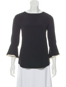 6298cc3d64820 Chloé. Silk Long Sleeve Top