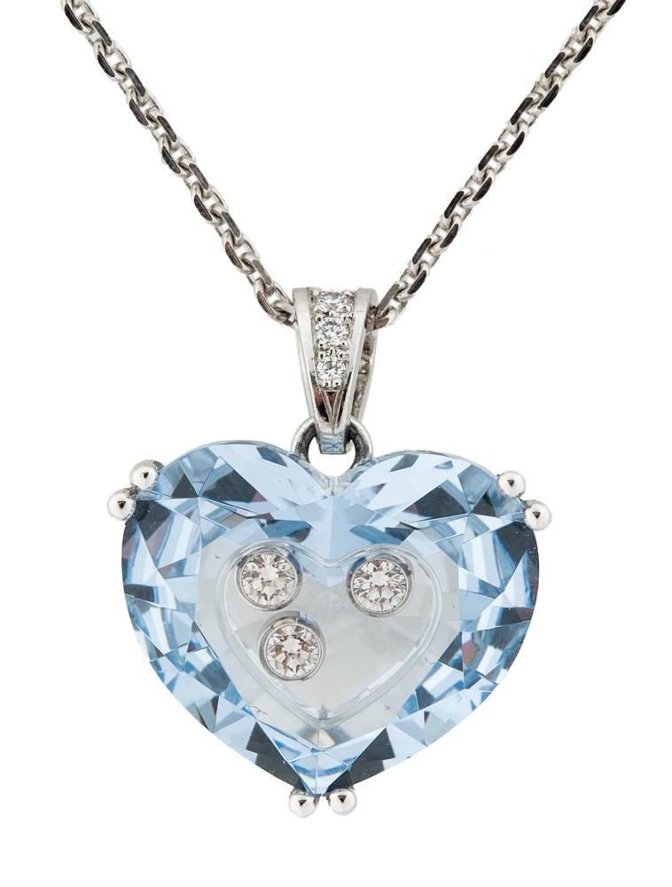 chopard happy diamonds blue necklace