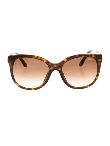 Chopard Chain-Embellished Oversize Sunglasses