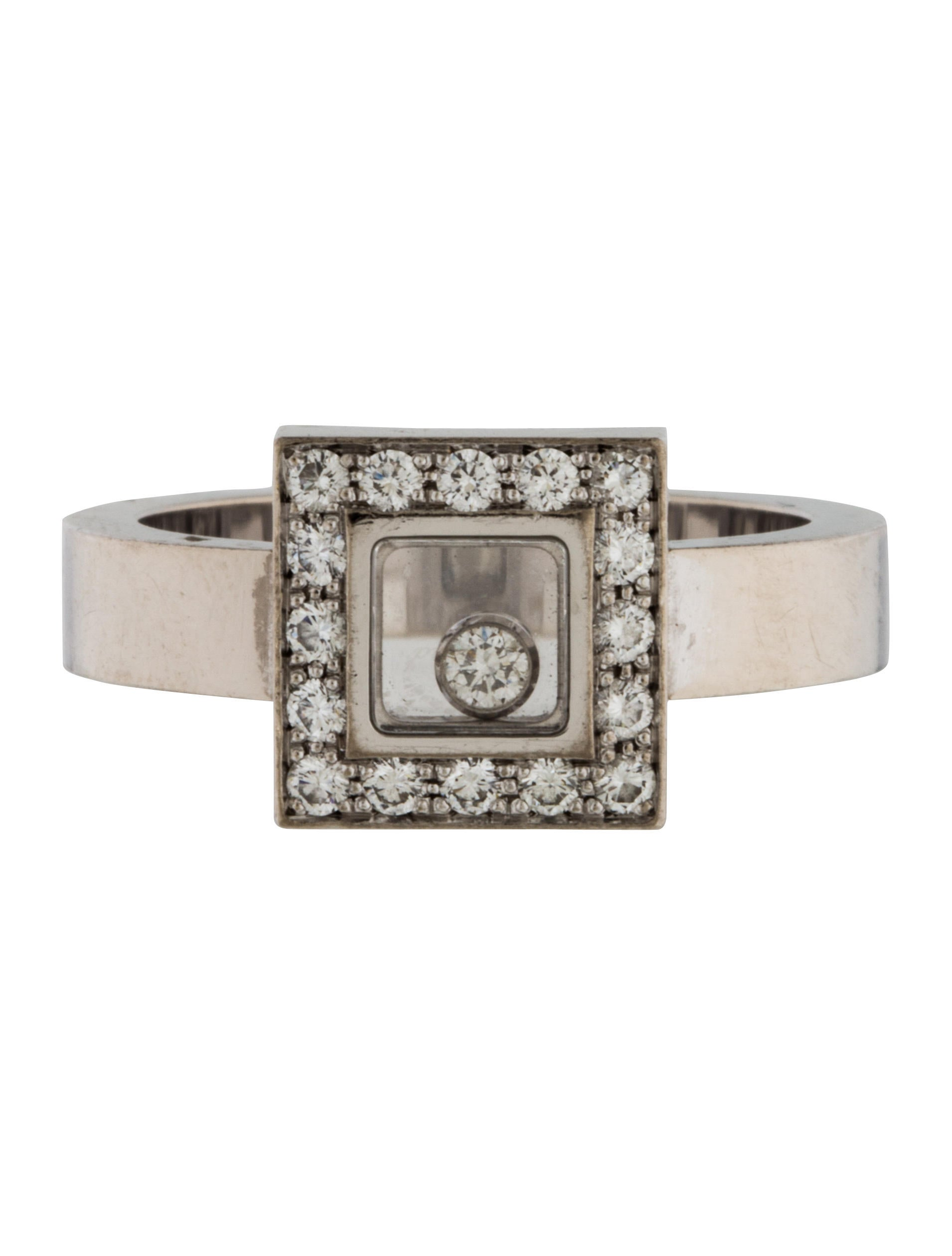 chopard happy diamonds square ring rings chp21706