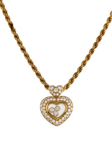 Chopard happy diamonds pendant necklace necklaces chp22039 the happy diamonds pendant necklace aloadofball