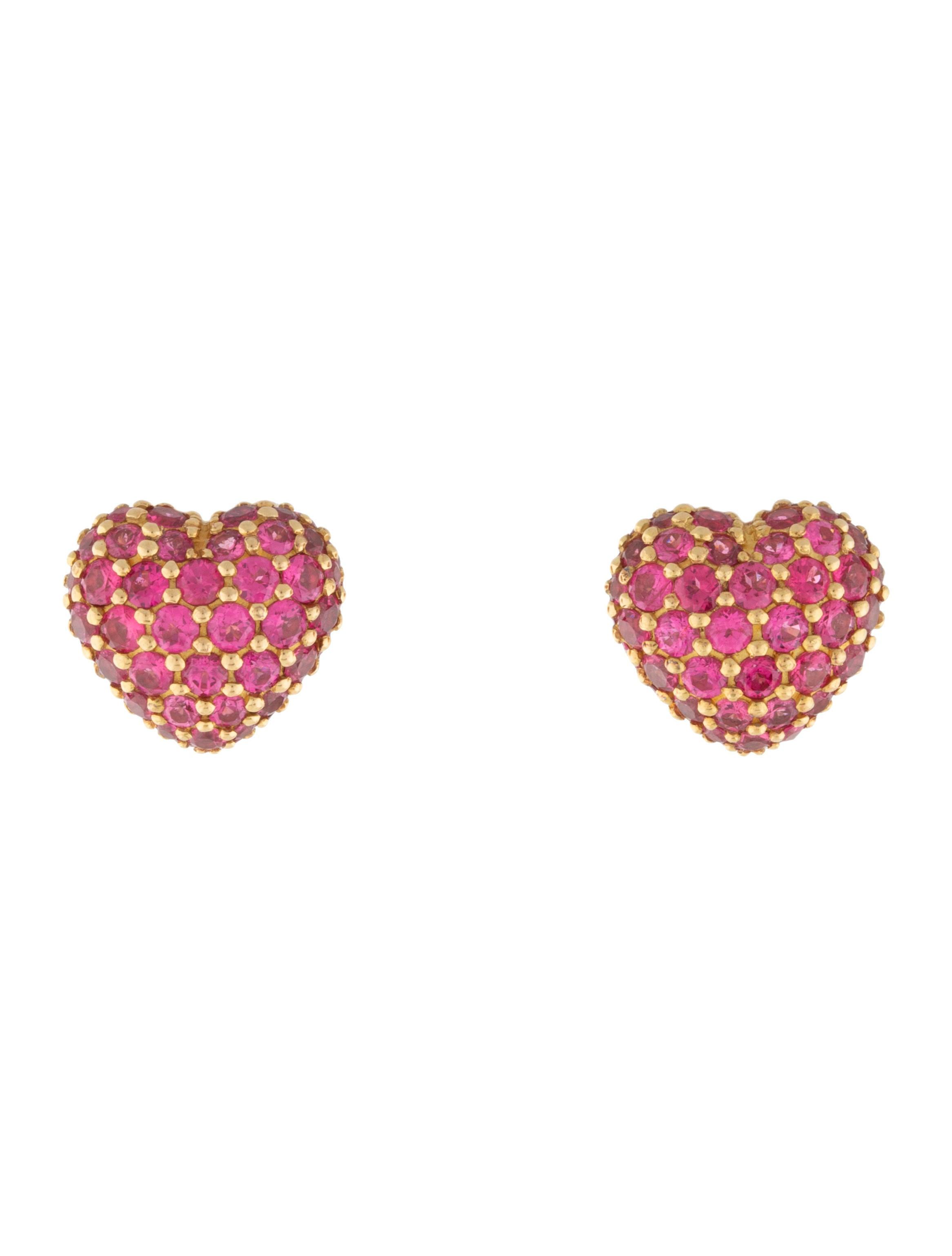Chopard 18k Ruby Heart Stud Earrings Earrings Chp22924 The