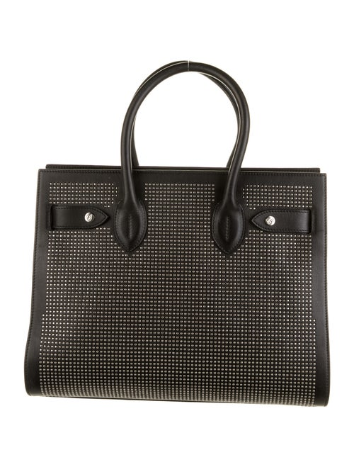 Chopard Studded Leather Tote Black
