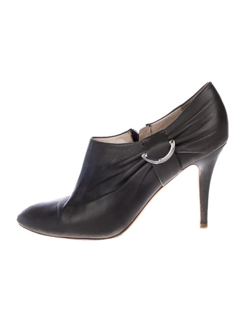 Christian Dior Demi-Lune Ankle Booties silver