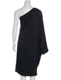 Satin One-Shoulder Dress image 3