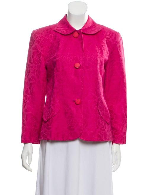 Christian Dior Linen Blend Jacquard Blazer Fuchsia