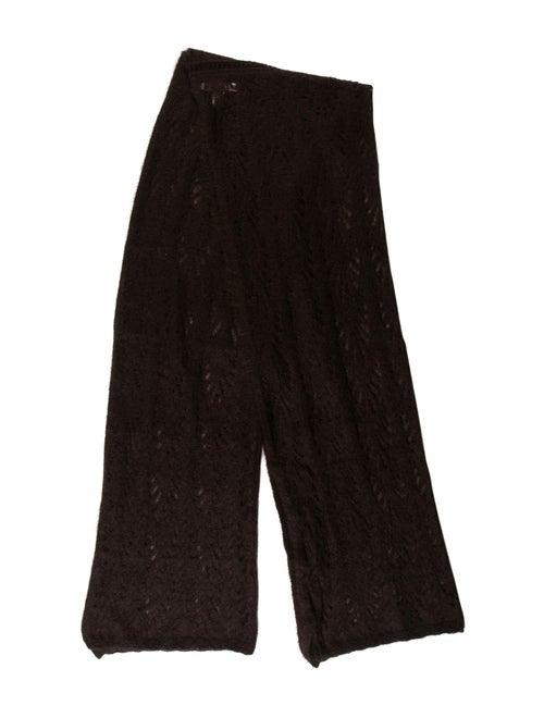 Christian Dior Mohair Knit Scarf Brown