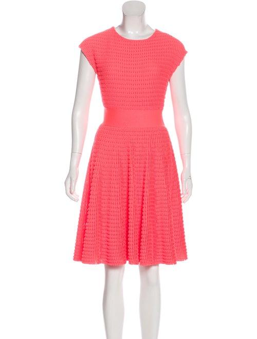 Christian Dior Textured Knit Dress Neon