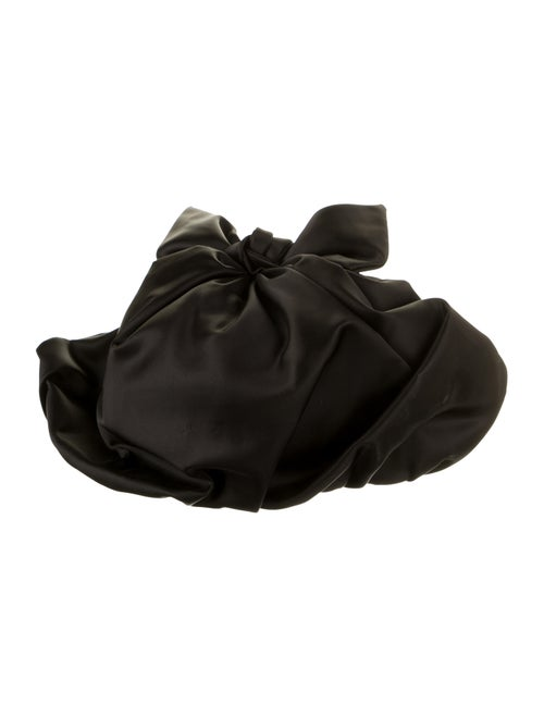 Christian Dior Velvet Gathered Beret Black