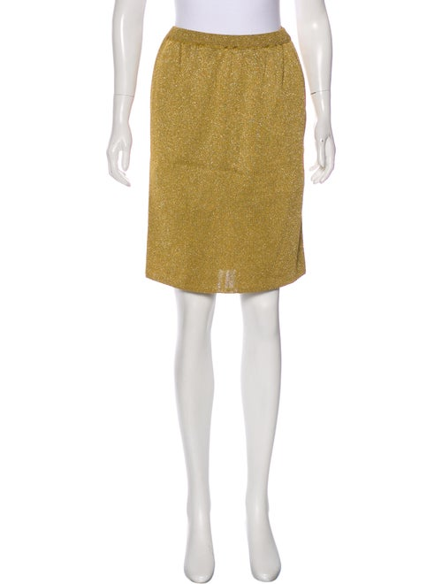Christian Dior Vintage Metallic Skirt metallic