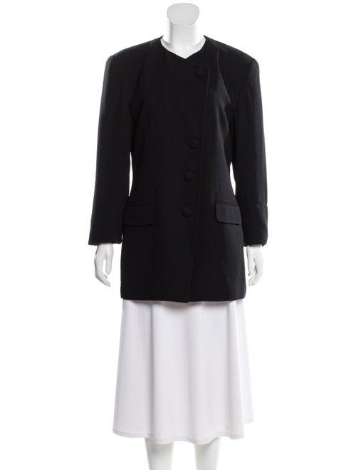Christian Dior Collarless Casual Blazer Black