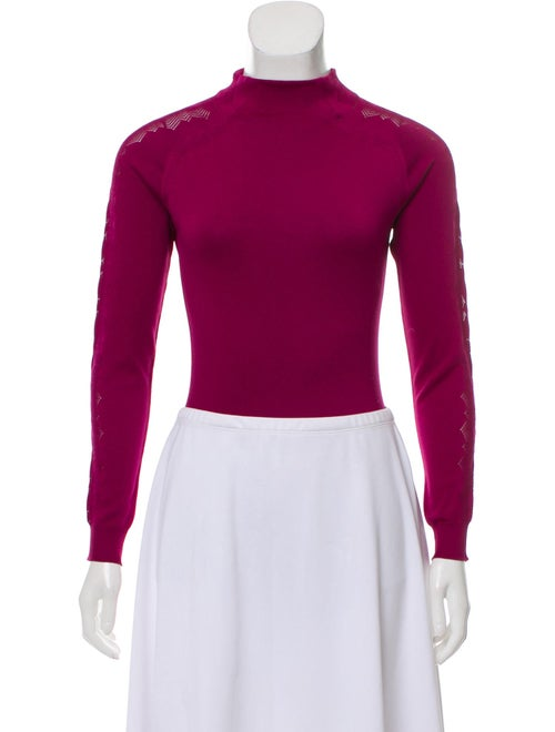Christian Dior Long Sleeve Knit Bodysuit Magenta