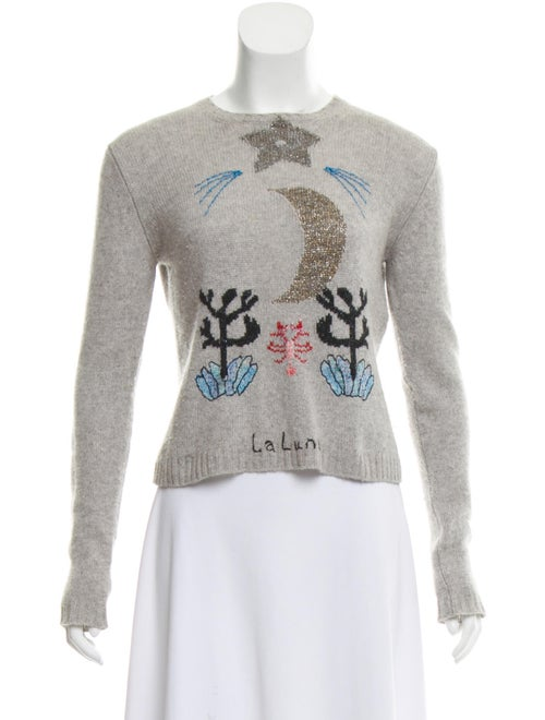 Christian Dior 2017 Cashmere Embroidered Sweater G