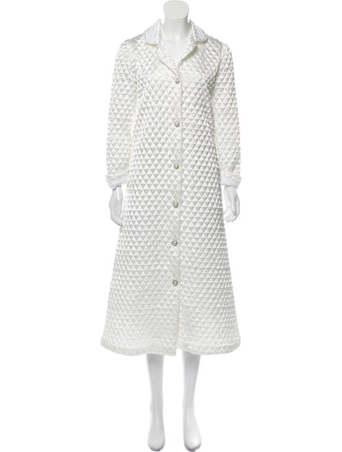 Christian Dior Vintage Quilted Robe White