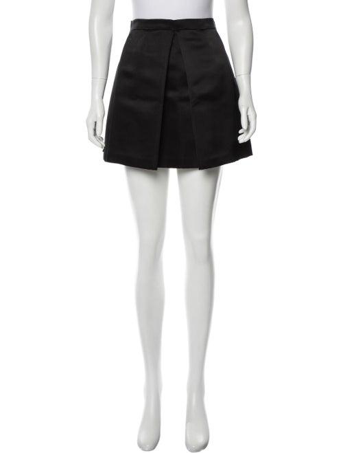 Christian Dior Silk Mini Skirt Black