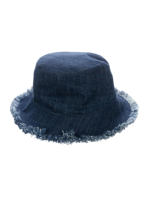 Christian Dior 2020 Denim Fringe Bucket Hat denim