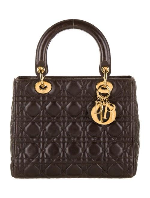 Christian Dior Vintage Medium Lady Dior Bag gold
