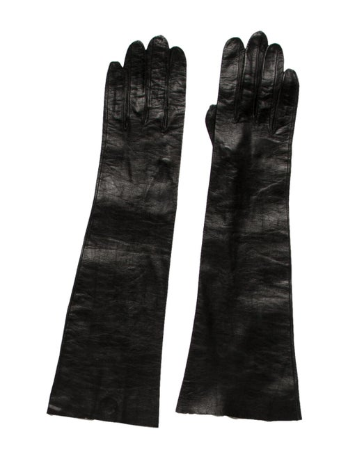 Christian Dior Leather Gloves black