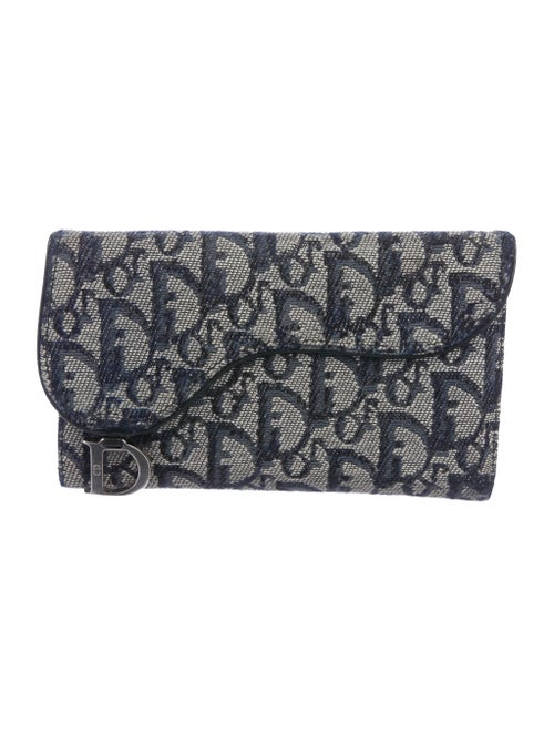 Christian Dior Diorissimo Saddle Wallet Navy