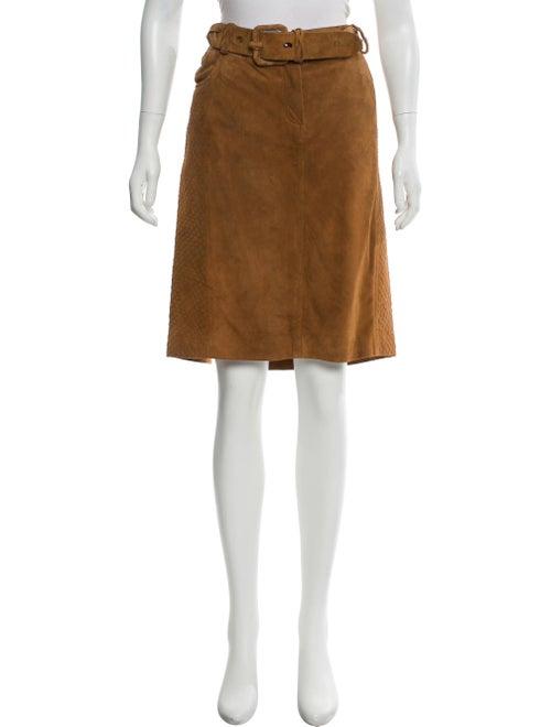 Christian Dior Suede Knee-Length Skirt