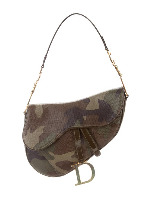 Christian Dior Camouflage Saddle Bag Olive