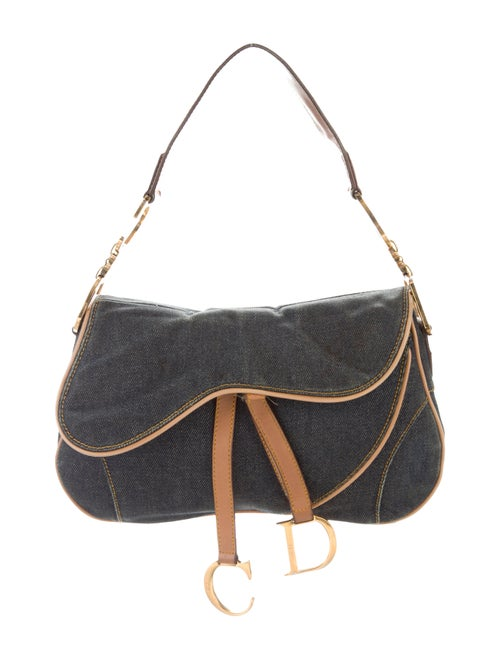 Christian Dior Denim Saddle Bag denim