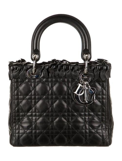 Christian Dior Bow Medium Lady Dior Bag Black