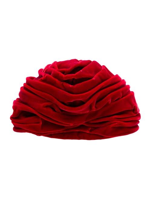 Christian Dior Velvet Vintage Turban Red