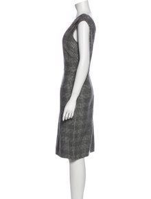 Christian Dior Virgin Wool Knee-Length Dress