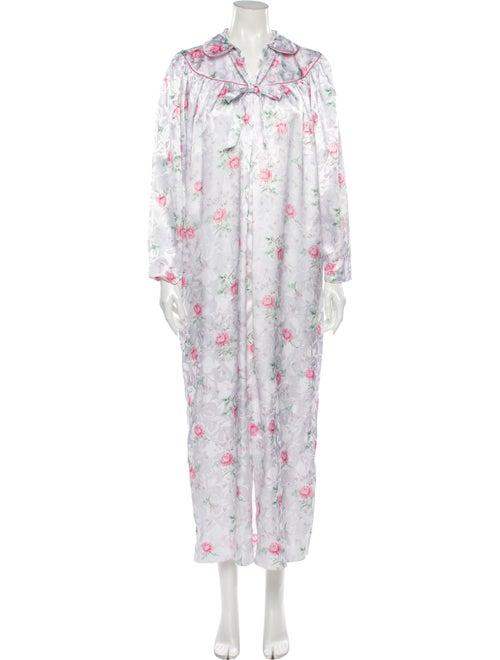 Christian Dior Floral Print Nightgown Grey