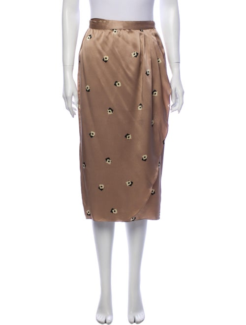 Christian Dior Silk Midi Length Skirt