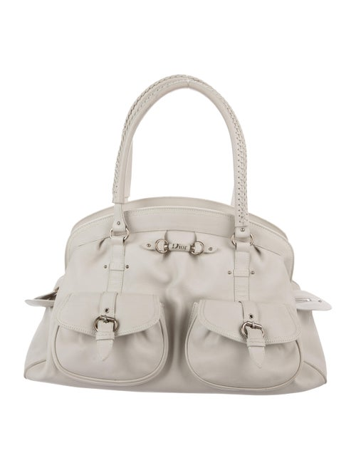 Christian Dior Medium Detective Bag silver