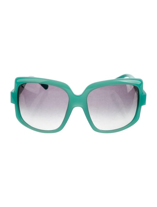 Christian Dior 60's Oversize Sunglasses Green