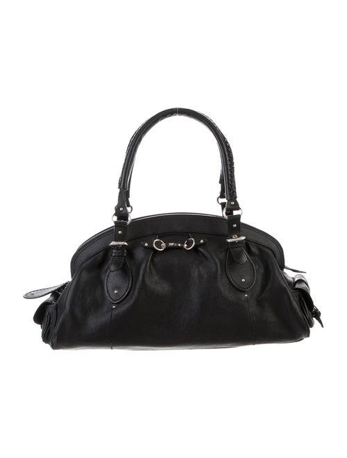 Christian Dior Detective Leather Bag Black