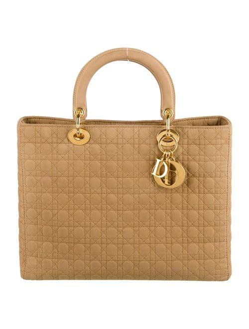 Christian Dior Vintage Large Lady Dior Bag Tan