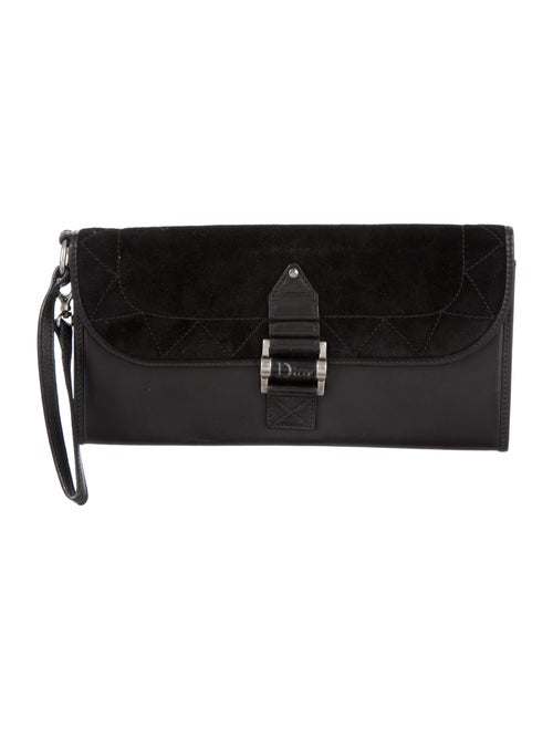 Christian Dior Suede & Leather Street Chic Clutch