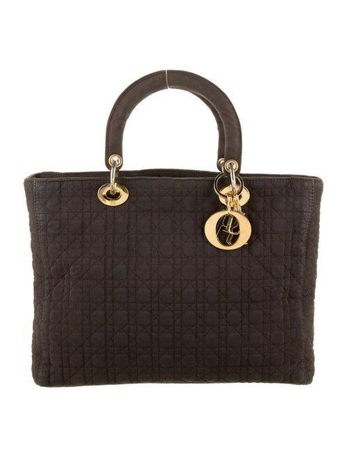 Christian Dior Vintage Large Lady Dior Bag Brown