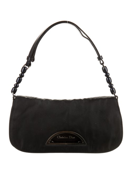 Christian Dior Nylon Malice Shoulder Bag Black