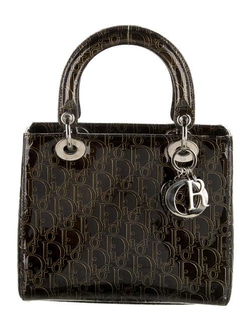 Christian Dior Medium Lady Dior Bag w/ Strap Green