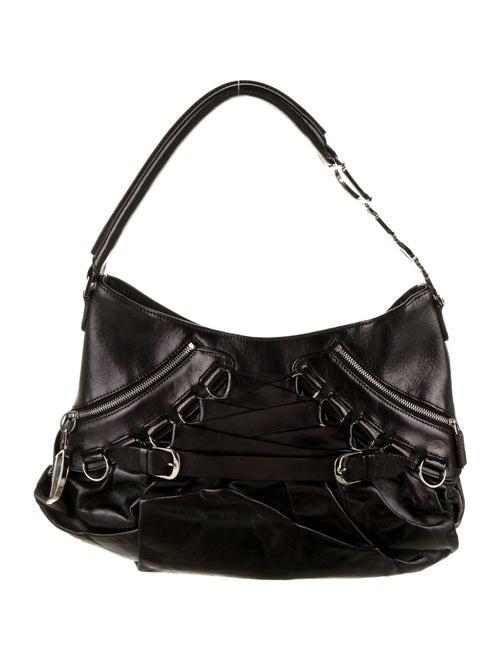 Christian Dior Leather Shoulder Bag Black