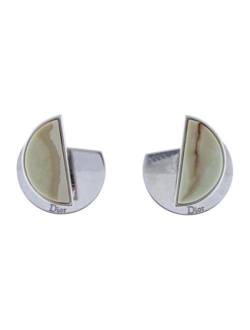 Christian Dior Half Moon Earrings Silver