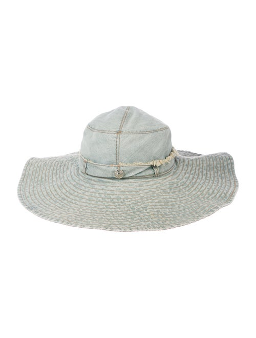 Christian Dior Vintage Denim Hat blue