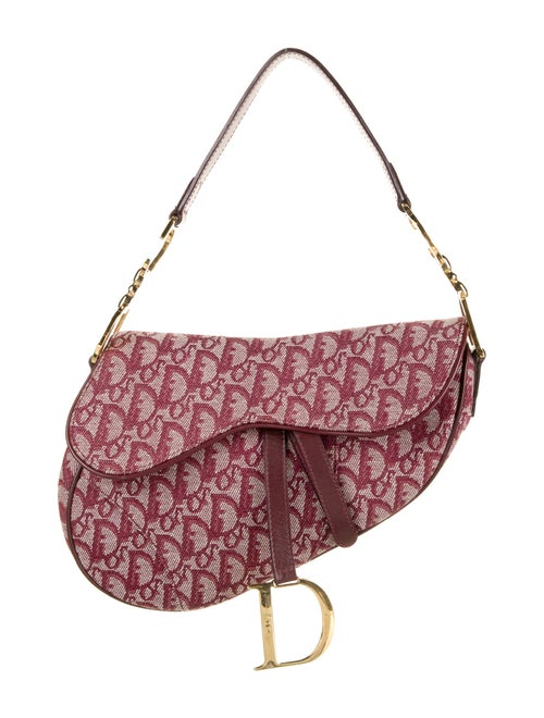 Christian Dior Diorissimo Saddle Bag Gold