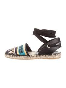 Christian Dior Dior Garland Slingback Flats Shoes Chr102381 The Realreal
