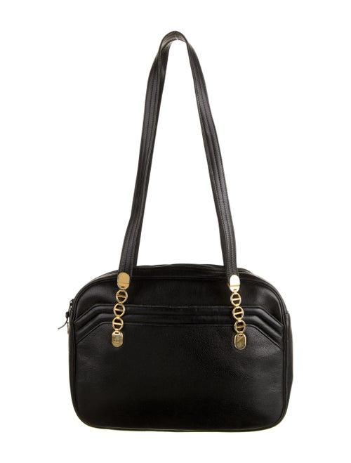 Christian Dior Vintage Leather Shoulder Bag Black