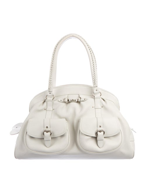 Christian Dior My Dior Frame Bag White